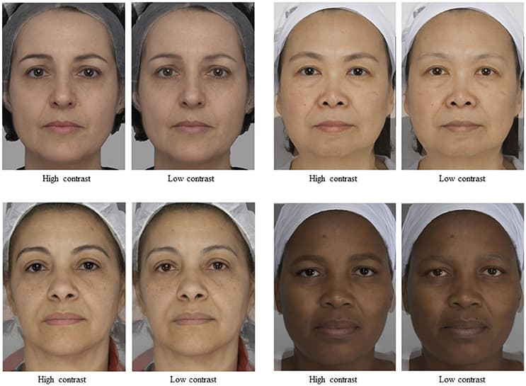 Facial Contrast Is a Cross-Cultural Cue for Perceiving Age