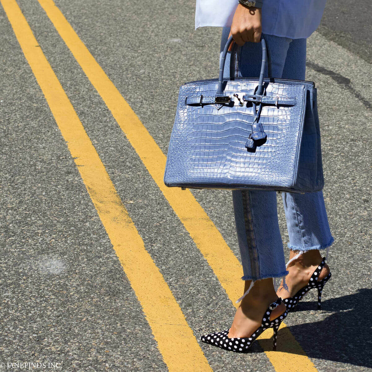 Hermès Birkin Brighton Blue Porosus Crocodile